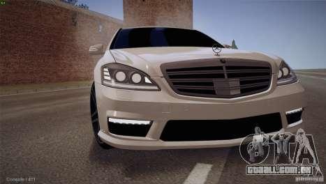 Mercedes-Benz S65 AMG para GTA San Andreas esquerda vista
