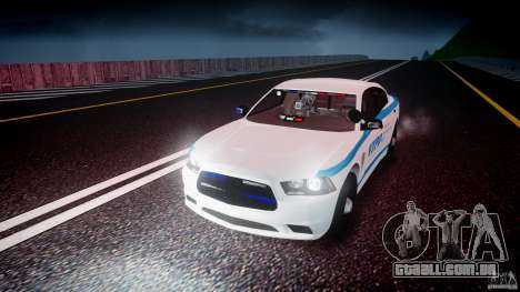 Dodge Charger NYPD 2012 [ELS] para GTA 4 vista inferior