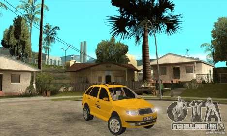 Skoda Fabia Combi Taxi para GTA San Andreas vista traseira