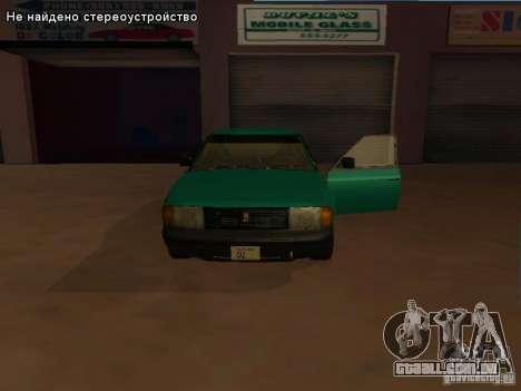 Moskvich 2141 para GTA San Andreas traseira esquerda vista