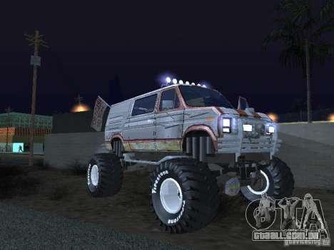 Ford Grave Digger para GTA San Andreas vista traseira