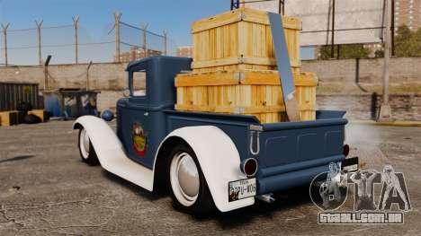 Ford Farmtruck MF 1932 para GTA 4 traseira esquerda vista