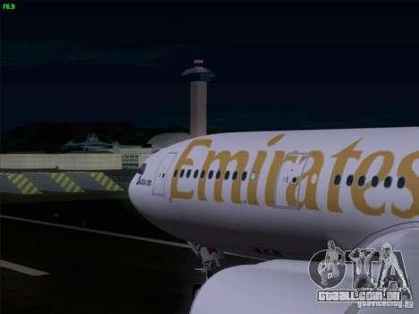 Airbus A330-200 Emirates para GTA San Andreas vista interior