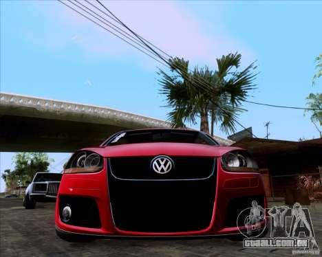 Volkswagen Golf MK5 GTI Stance para GTA San Andreas vista direita