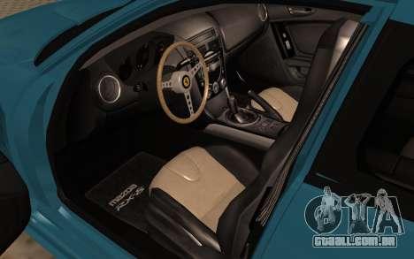 Mazda RX8 VIP para GTA San Andreas vista traseira