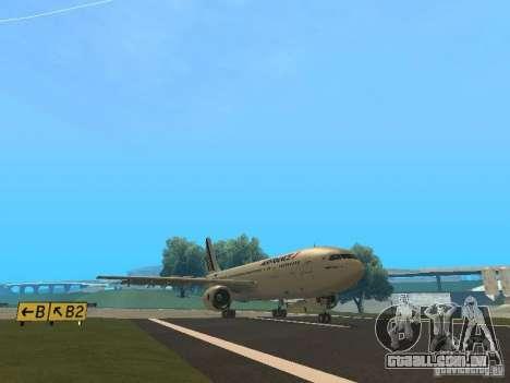 Airbus A300-600 Air France para GTA San Andreas traseira esquerda vista