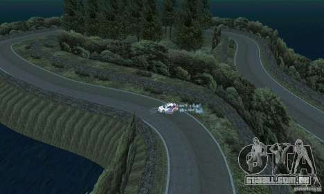 A rota do rali para GTA San Andreas sétima tela