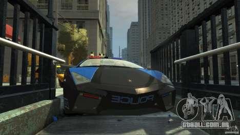 Lamborghini Reventon Police Hot Pursuit para GTA 4 vista inferior