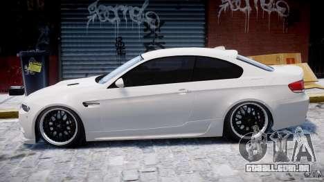 BMW M3 Hamann E92 para GTA 4 traseira esquerda vista