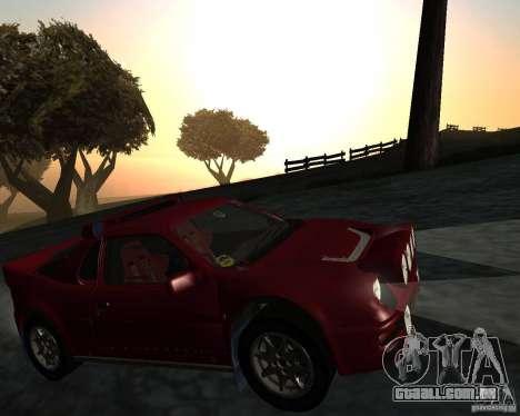 Ford RS 200 para GTA San Andreas vista interior