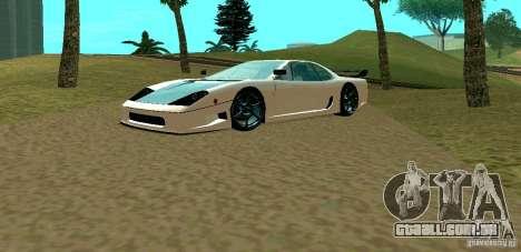 New Turismo para GTA San Andreas esquerda vista