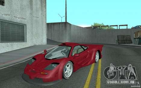 Mclaren F1 GT (v1.0.0) para GTA San Andreas