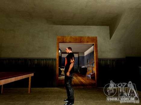 Camiseta preta com uma caveira para GTA San Andreas segunda tela