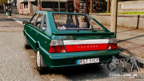 Daewoo-FSO Polonez Caro Plus 1.6 GSI 1998 Final para GTA 4 esquerda vista