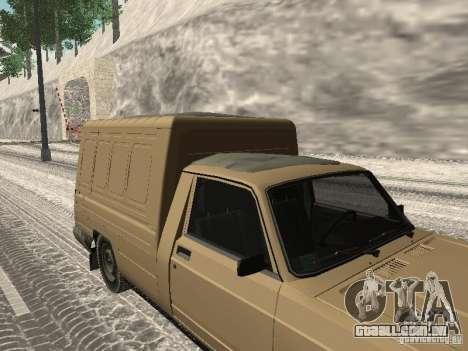 IZH 27175 edição de inverno para GTA San Andreas traseira esquerda vista