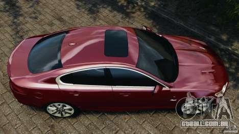 Jaguar XFR 2010 v2.0 para GTA 4 vista direita