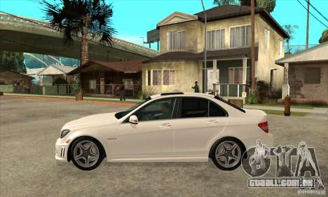 Mercedes-Benz C63 AMG 2010 para GTA San Andreas vista superior