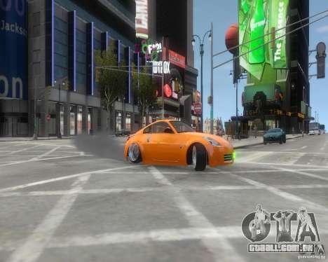 Nissan 350Z para GTA 4 vista de volta