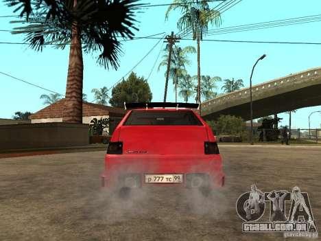 Lada 2112 GTS Sprut para GTA San Andreas traseira esquerda vista
