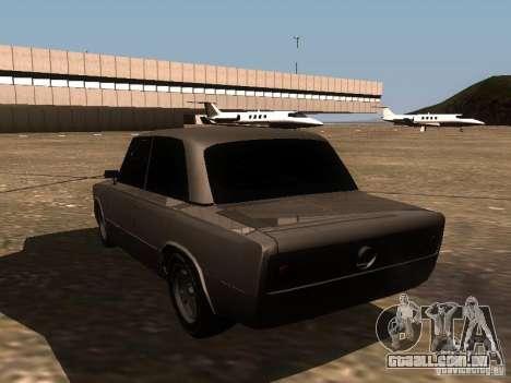 VAZ 2106 Drag Racing para GTA San Andreas traseira esquerda vista