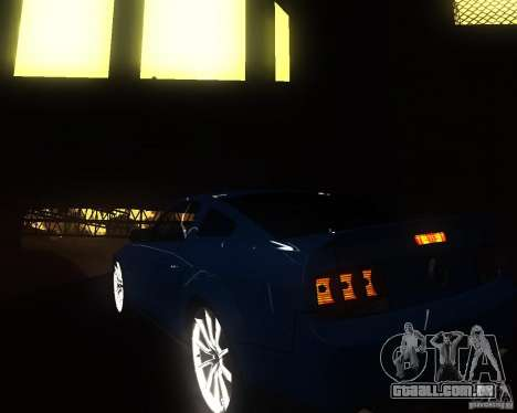 Shelby Mustang 2009 para GTA San Andreas vista direita