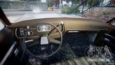 Dodge Monaco 1974 para GTA 4 vista de volta