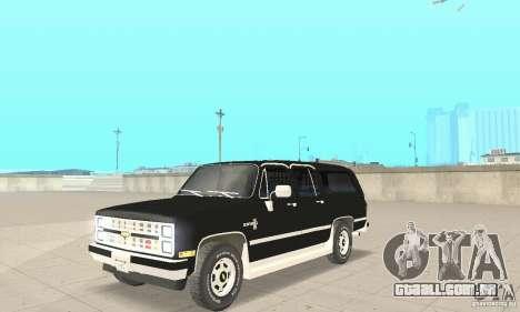 Chevrolet Suburban FBI 1986 para GTA San Andreas