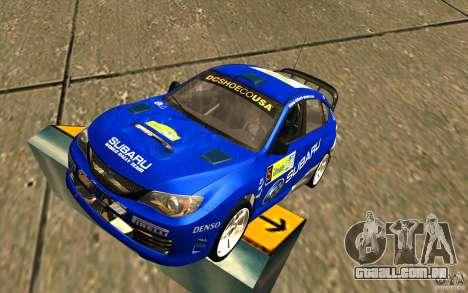 Novo vinil para Subaru Impreza WRX STi para GTA San Andreas