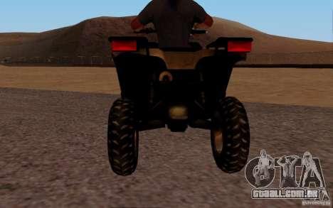 Quadbike from BF 3 para GTA San Andreas vista direita