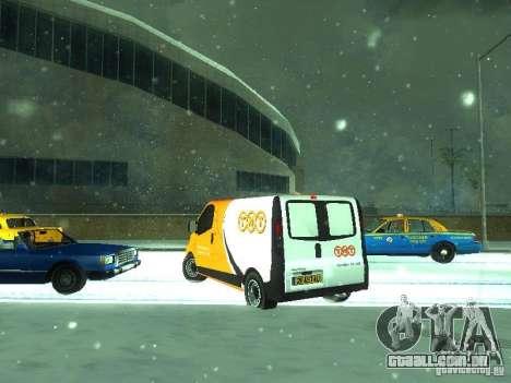 Vauxhall Vivaro v1.1 TNT para GTA San Andreas traseira esquerda vista