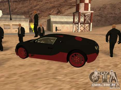 Bugatti Veyron Super Sport para GTA San Andreas traseira esquerda vista