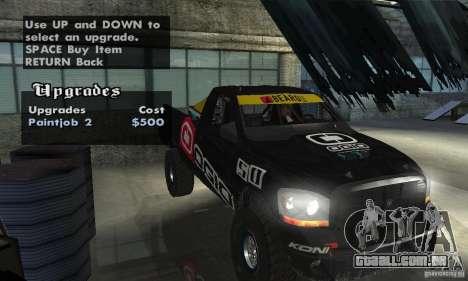 Dodge Power Wagon Paintjobs Pack 2 para GTA San Andreas vista interior