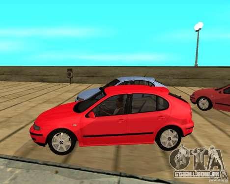 Seat Leon 1.9 TDI para GTA San Andreas esquerda vista