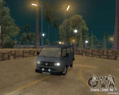Volkswagen Transporter T3 para GTA San Andreas traseira esquerda vista