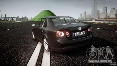 Volkswagen Jetta 2008 para GTA 4 traseira esquerda vista