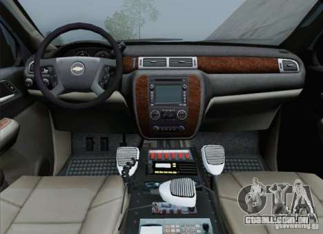 Chevrolet Suburban EMS Supervisor 862 para GTA San Andreas interior