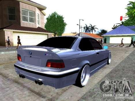 BMW M3 E36 Light Tuning para GTA San Andreas traseira esquerda vista