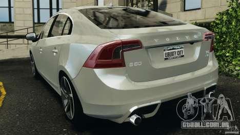 Volvo S60 R-Designs v2.0 para GTA 4 traseira esquerda vista