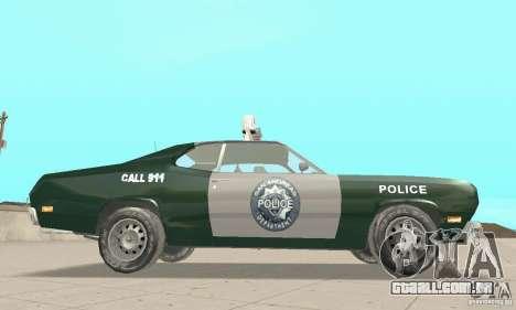 Plymouth Duster 340 Police para GTA San Andreas vista direita