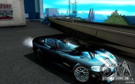 Dodge Viper GTS Coupe TT Black Revel para GTA San Andreas vista inferior