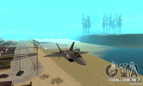 F-22 Grey para GTA San Andreas vista interior