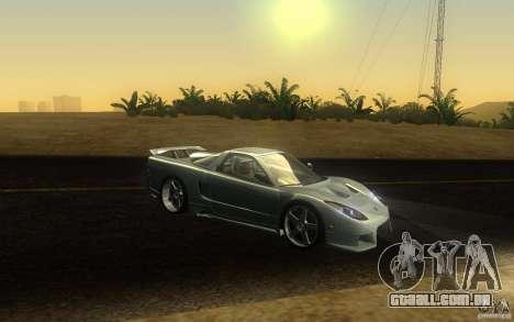 Honda NSX VeilSide Fortune para GTA San Andreas vista superior