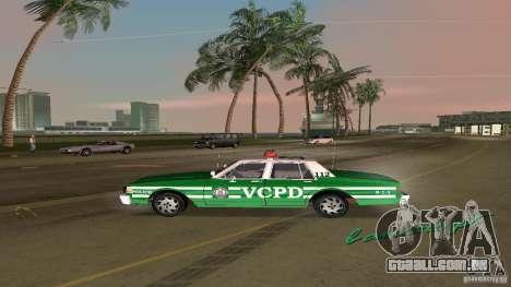 Ford LTD Crown Victoria 1985 Interceptor LAPD para GTA Vice City vista direita