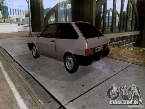 Dreno VAZ 2108 para GTA San Andreas esquerda vista