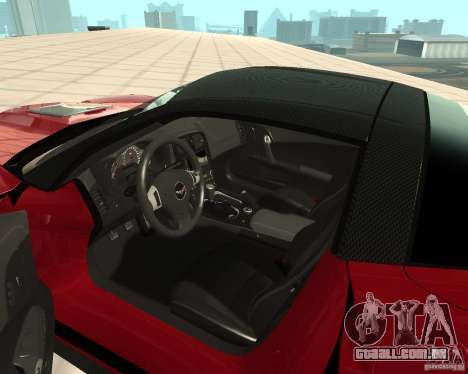 Chevrolet Corvette ZR1 para GTA San Andreas vista direita