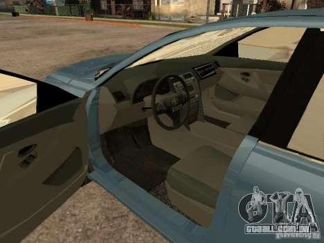 Toyota Camry 2009 para GTA San Andreas traseira esquerda vista