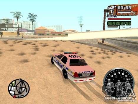 Ford Crown Victoria Police para GTA San Andreas esquerda vista