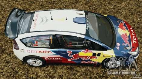 Citroen C4 WRC para GTA 4 vista direita