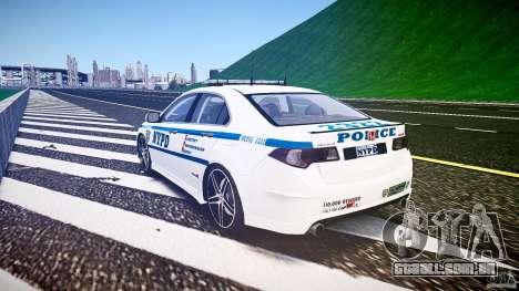 Honda Accord Type R NYPD (City Patrol 2322) ELS para GTA 4 vista lateral