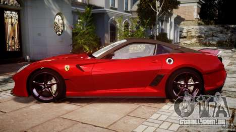 Ferrari 599 XX para GTA 4 esquerda vista